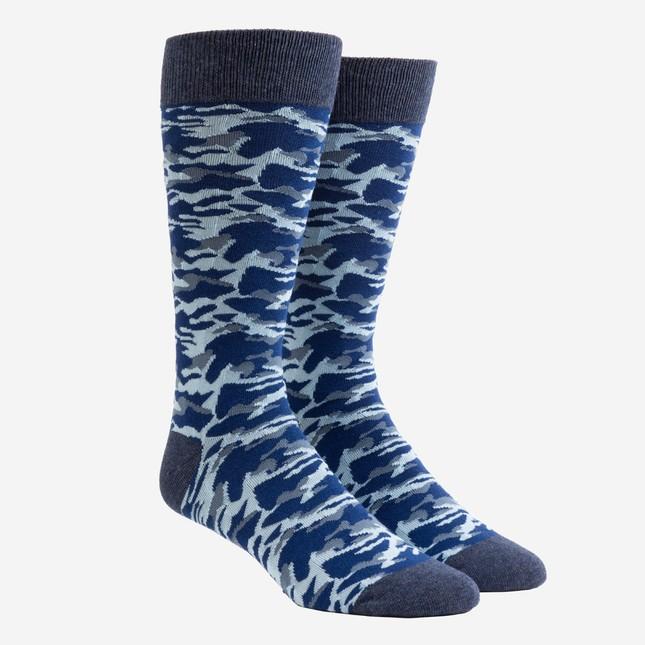 Covert Camo Navy Dress Socks
