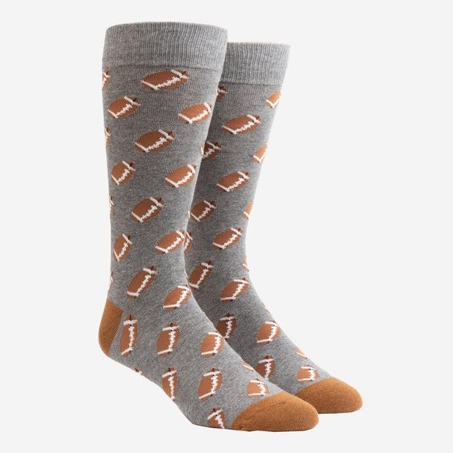 Fall Football Charcoal Dress Socks