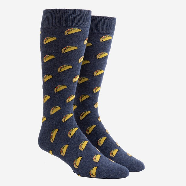 Taco Navy Dress Socks