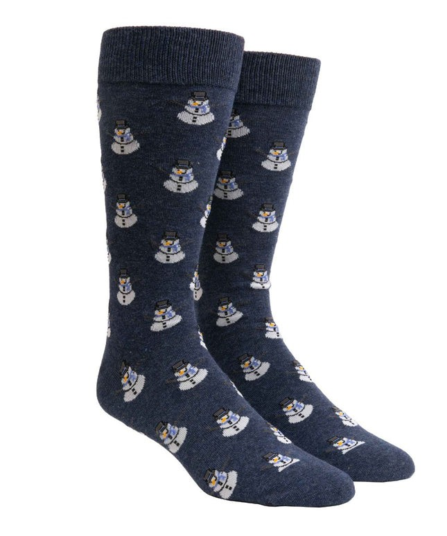 Snowman Navy Dress Socks