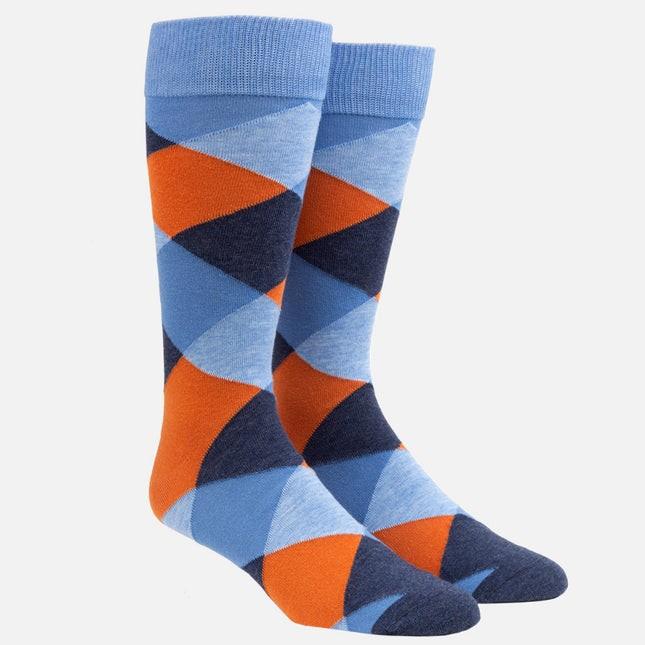 Rohrer Plaid Orange Dress Socks