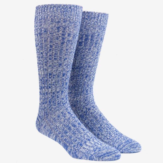 Camp Cobalt Burgundy Dress Socks