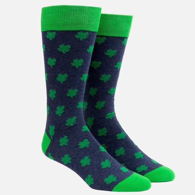 Feeling Lucky Navy Dress Socks