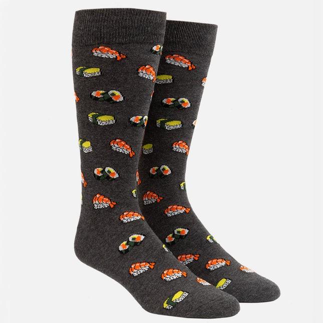 Sushi Charcoal Dress Socks