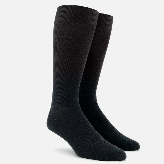 Ribbed Black Dress Socks