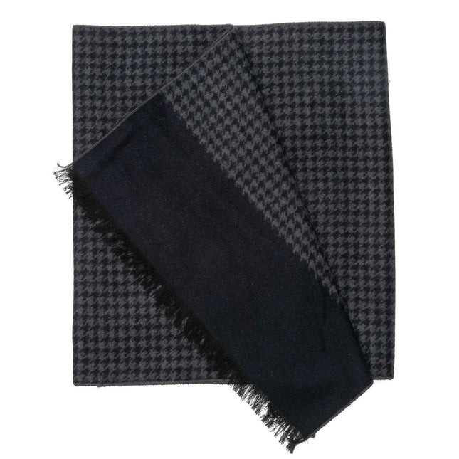 Palmer Square Houndstooth Navy Scarf