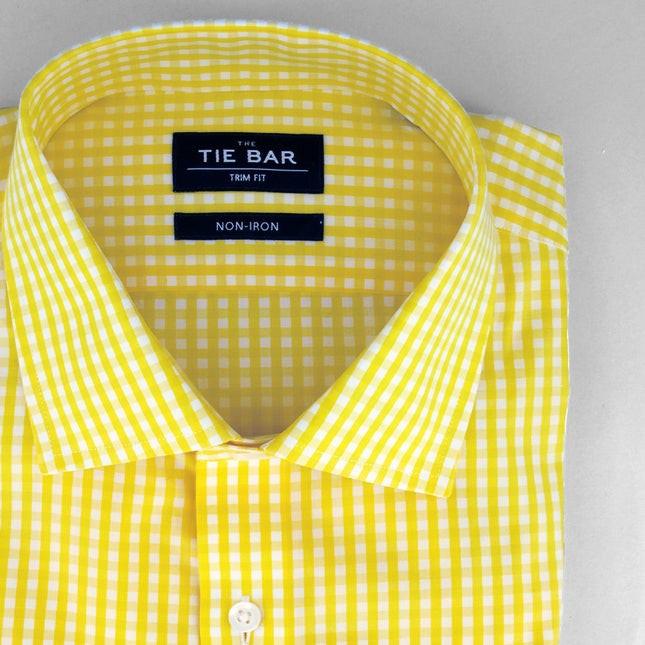 Gingham Yellow Non-Iron Dress Shirt
