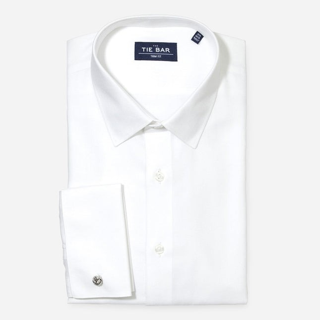Herringbone Tuxedo White Non-Iron Dress Shirt