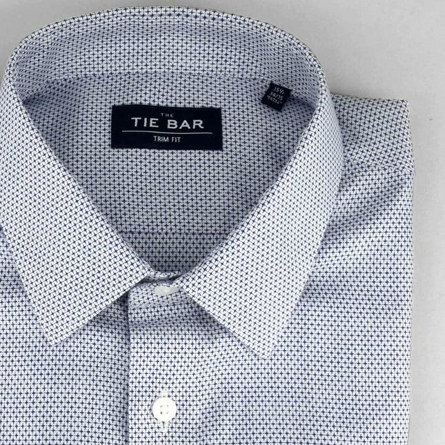 Patterned Crosshatch Blue Non-Iron Dress Shirt