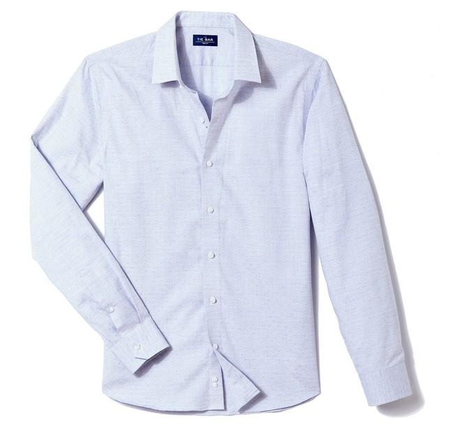 Diamond Dobby Blue Casual Shirt