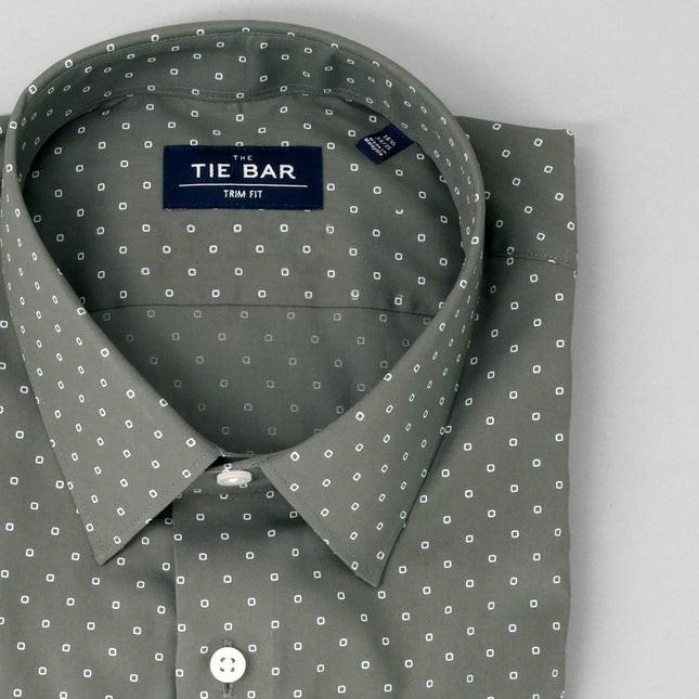Printed Dot Charcoal Dress Shirt