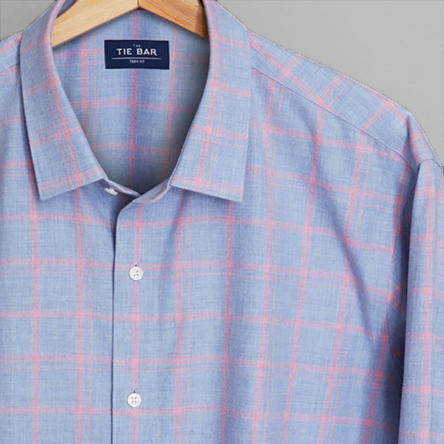Multicolored Check Pink Casual Shirt