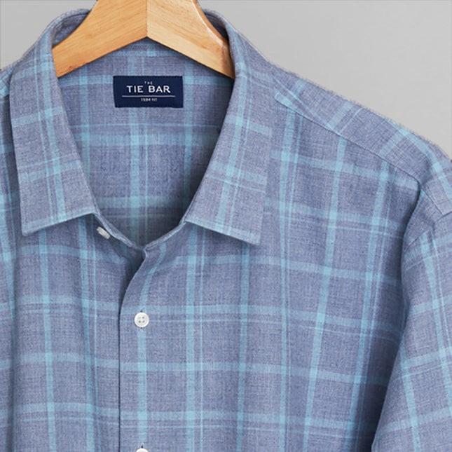 Multicolored Check Blues Casual Shirt