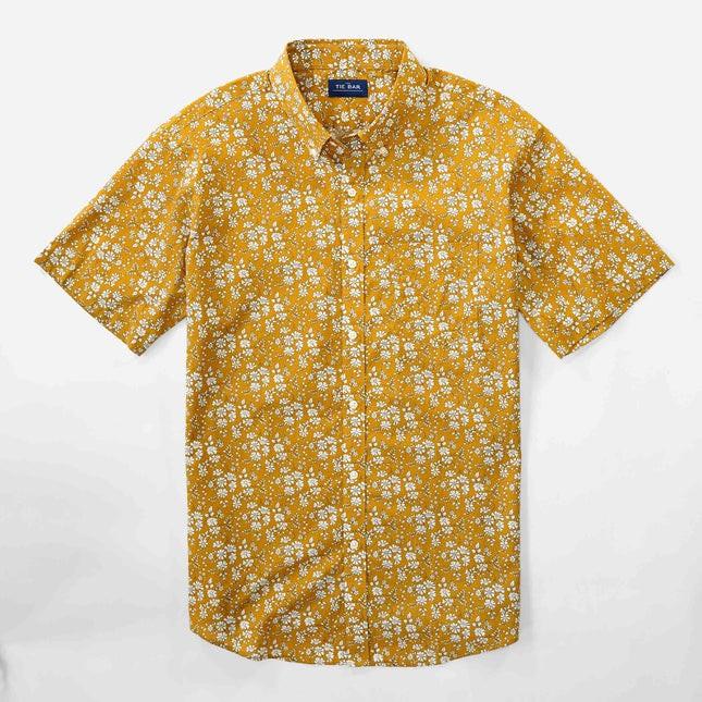 Liberty Capel Floral Mustard Short Sleeve Shirt