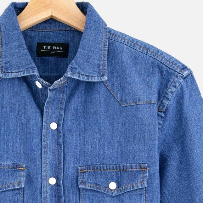 Western Denim Blue Casual Shirt