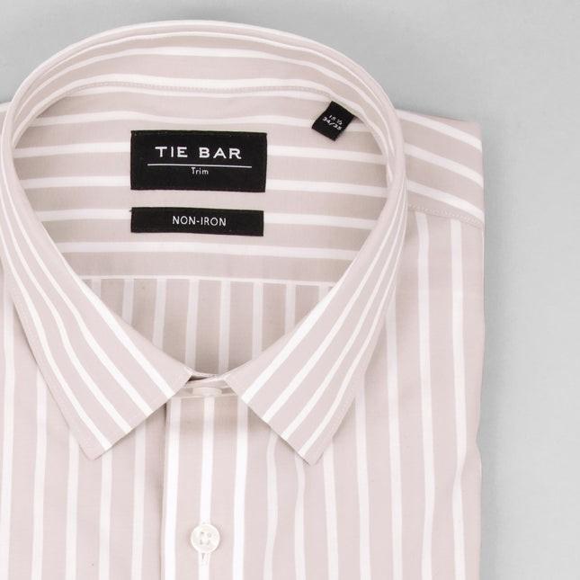 Reverse Stripe Dove Grey Non-Iron Dress Shirt