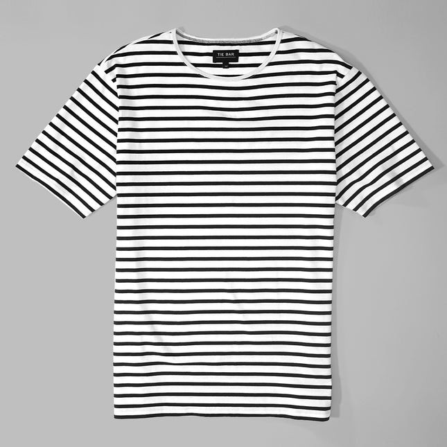 Tailored Striped Navy T-Shirt