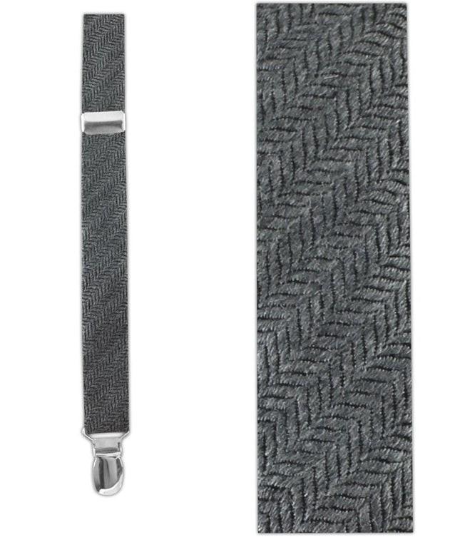 Wavebone Wool Grey Suspender