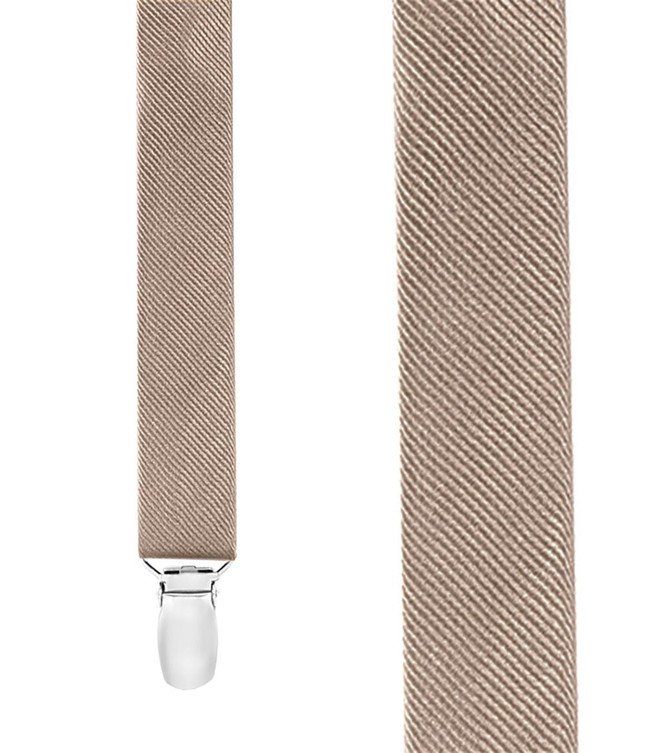 Grosgrain Solid Champagne Suspender
