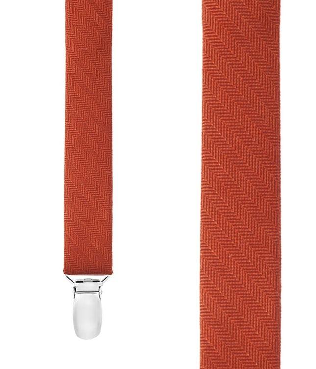 Astute Solid Orange Suspender