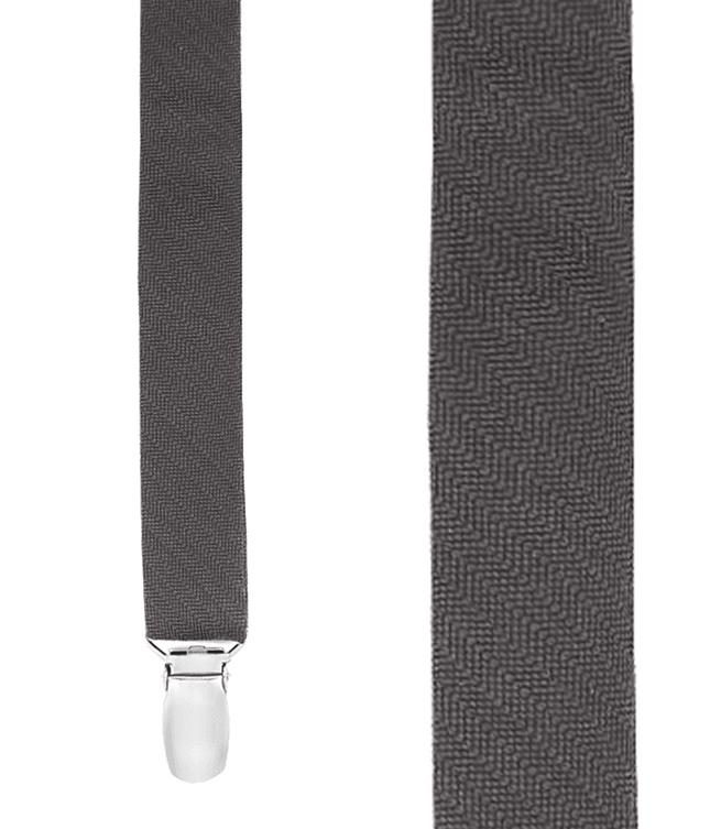 Astute Solid Charcoal Suspender
