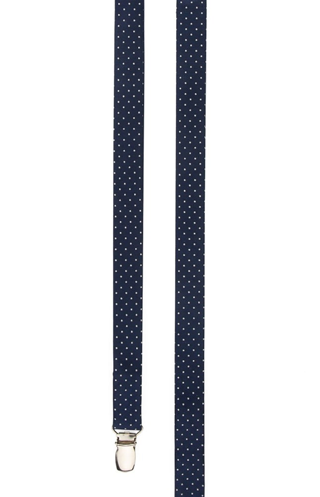 Mini Dots Navy Suspender