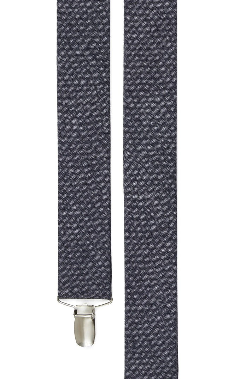 Wool Suiting Solid Grey Suspender