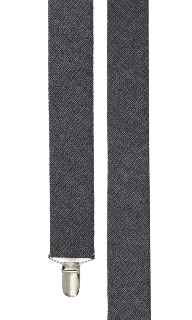 Basketweave Solid Grey Suspender