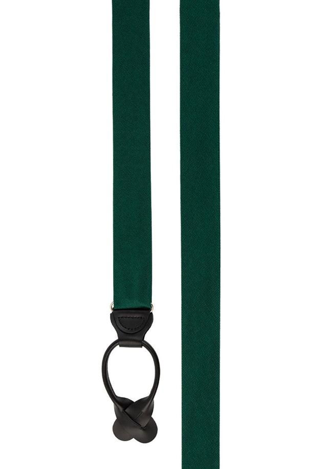 Grosgrain Solid Hunter Green Suspender
