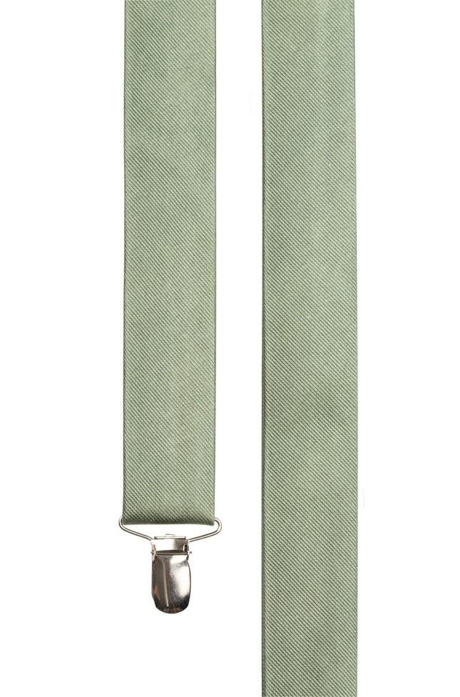 Grosgrain Solid Sage Green Suspender