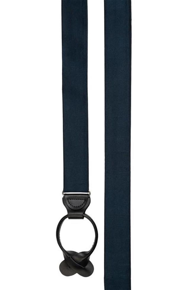 Solid Satin Navy Suspender