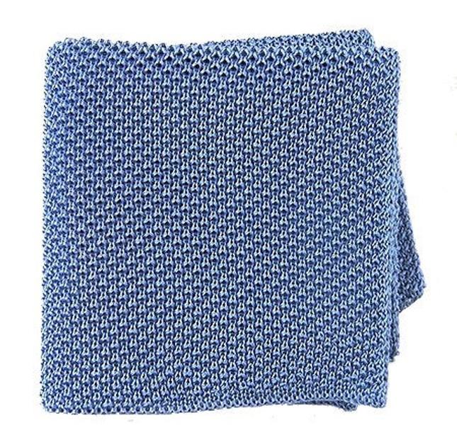 Solid Knit Sky Pocket Square