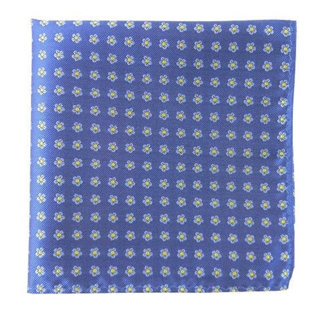 Anemones Cornflower Blue Pocket Square