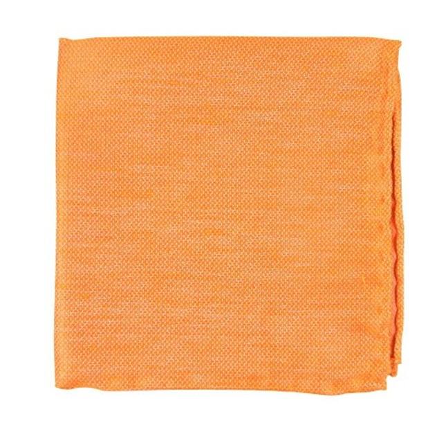 Solid Linen Tangerine Pocket Square