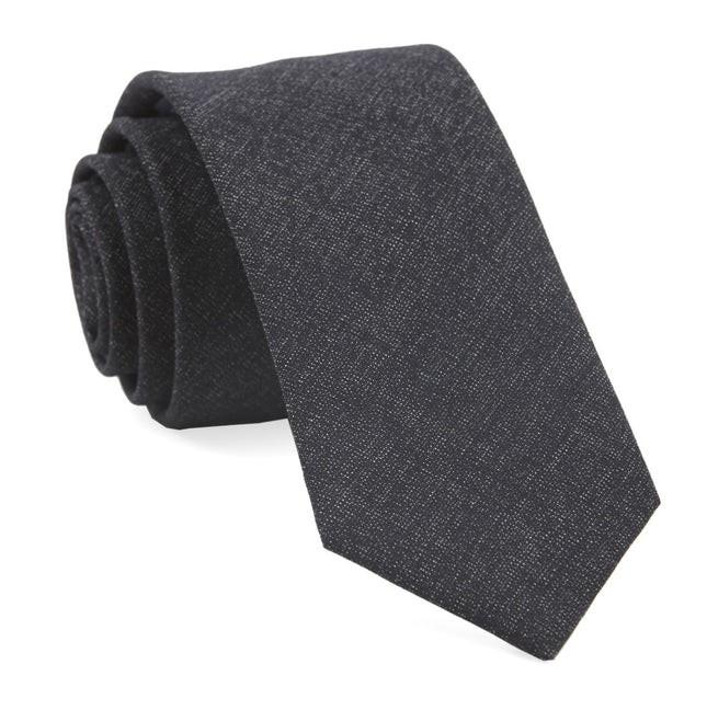 Coaltown Solid Charcoal Tie
