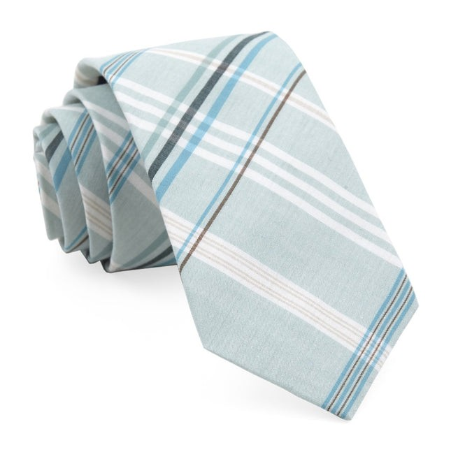Dawson Plaid Washed Spearmint Tie