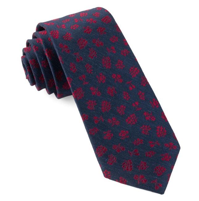 Fruta Floral Navy Tie