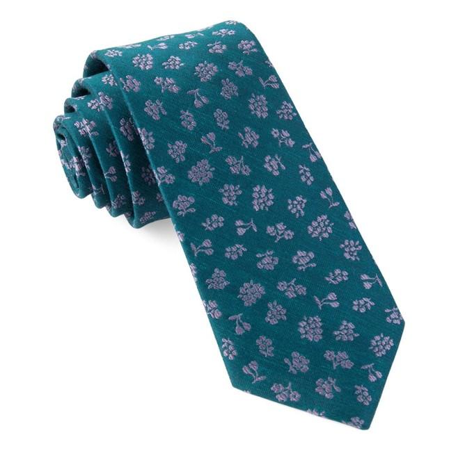 Fruta Floral Teal Tie