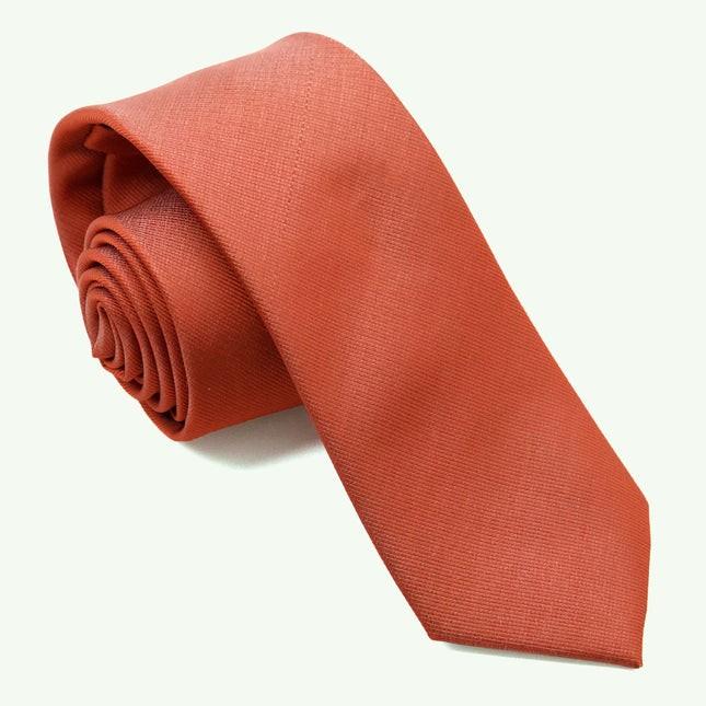Grosgrain Solid Rust Tie