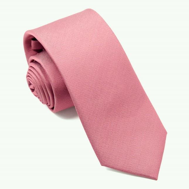 Grosgrain Solid Rosewood Tie