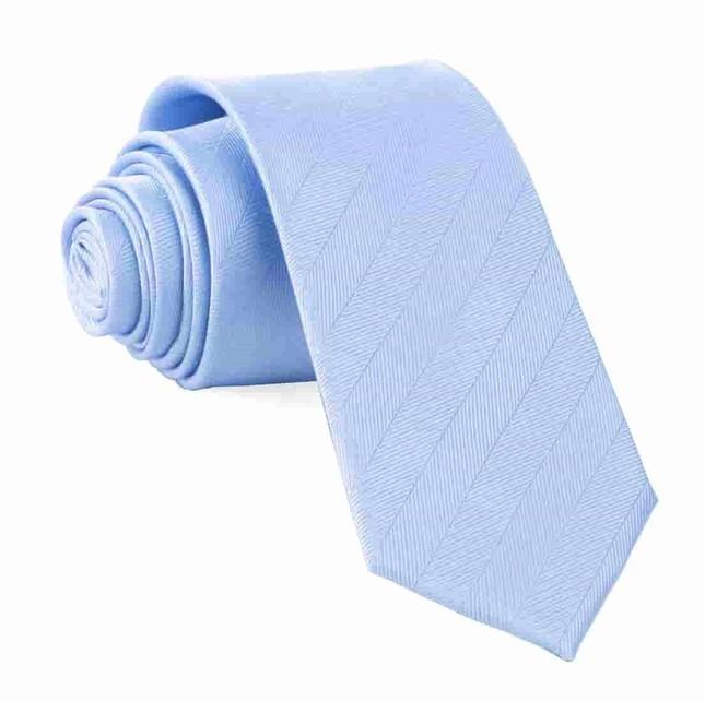 Herringbone Vow Light Blue Tie