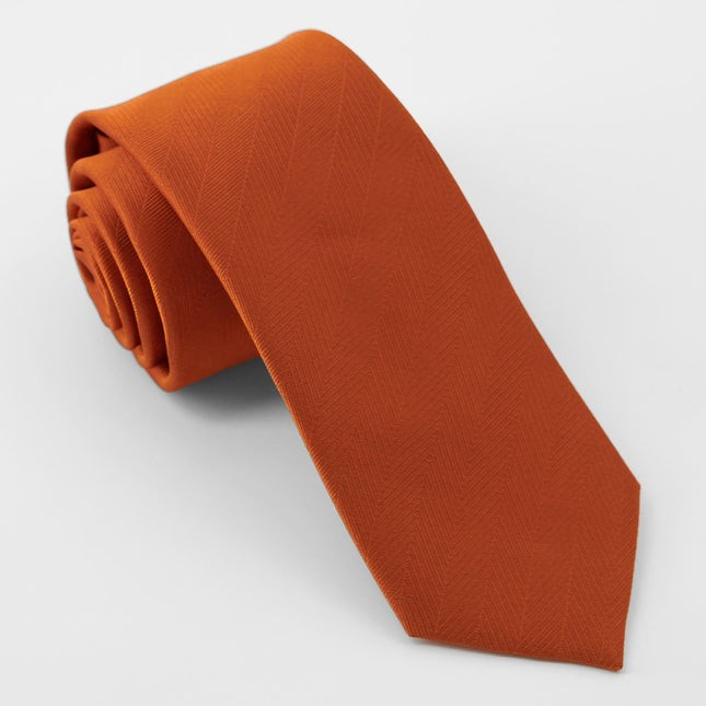 Herringbone Vow Rust Tie