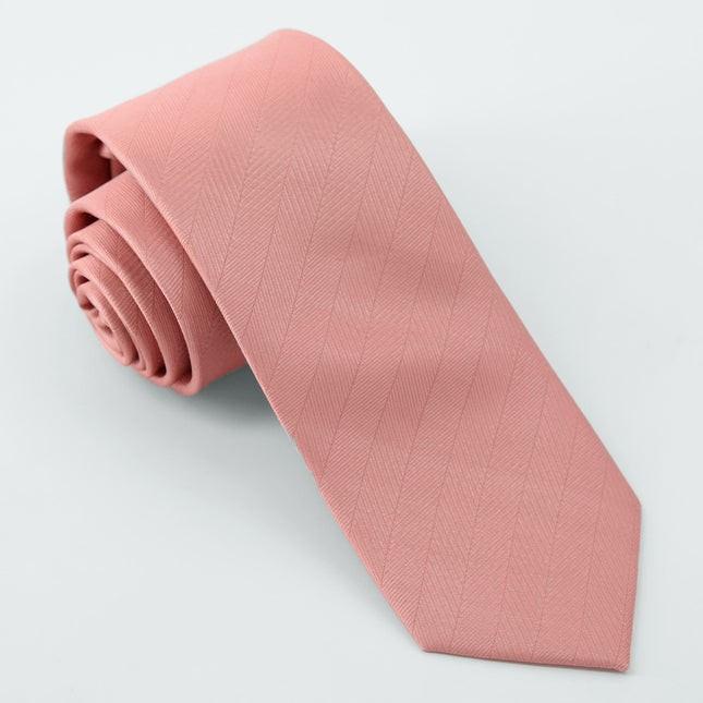 Herringbone Vow Dusty Blush Tie