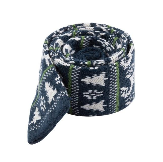 Holiday Knit Midnight Navy Tie