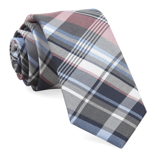 Jarrett Plaid Pink Tie