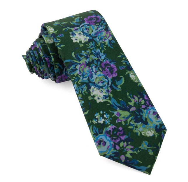 Jessi Floral Hunter Green Tie