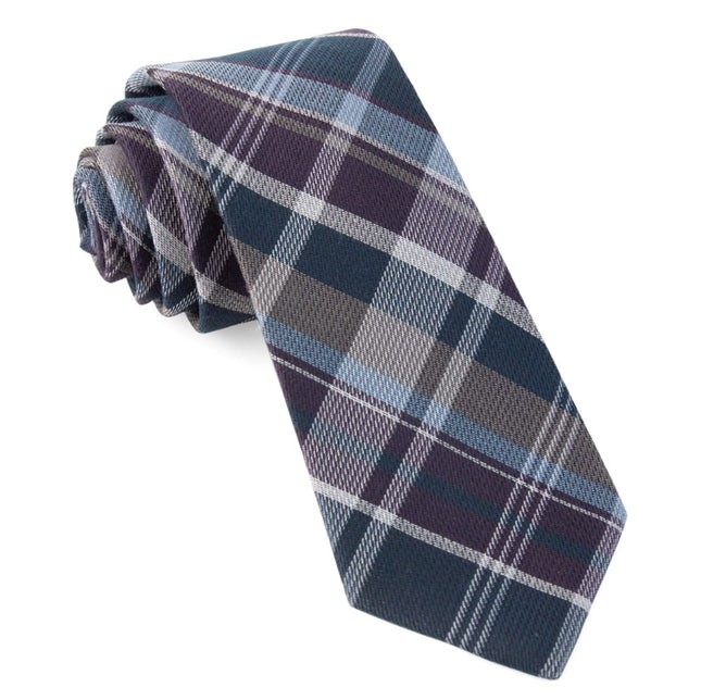 Latham Plaid Purple Tie