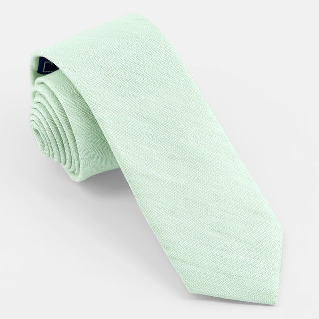 Linen Row Dusty Sage Tie