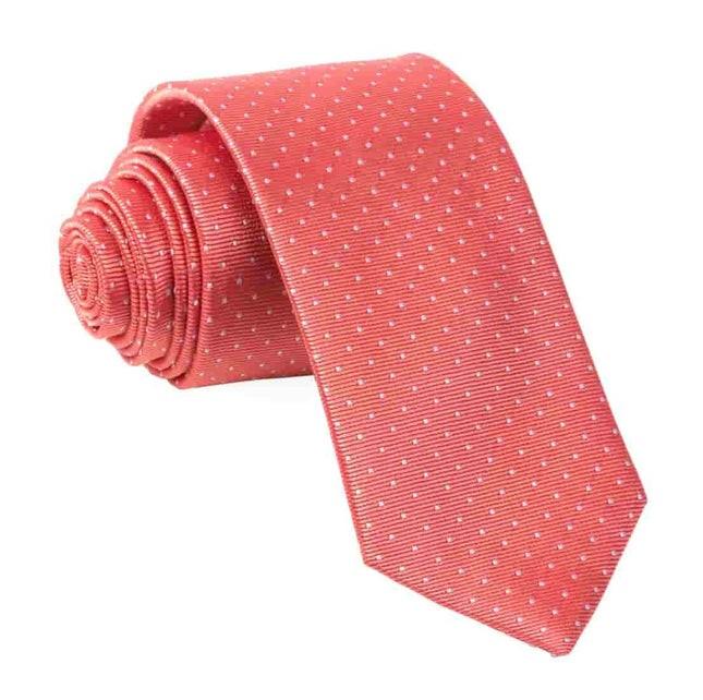 Mini Dots Coral Tie
