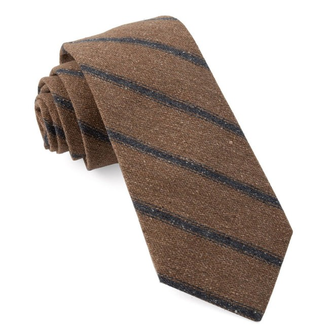 North Border Stripe Brown Tie